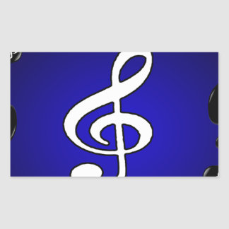 MUSIC NOTES GIFTS CUSTOMIZABLE PRODUCTS RECTANGULAR STICKER
