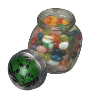Music Notes Glass Candy Jar
