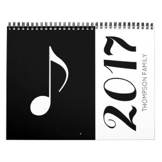 music notes graphic & cool calendar