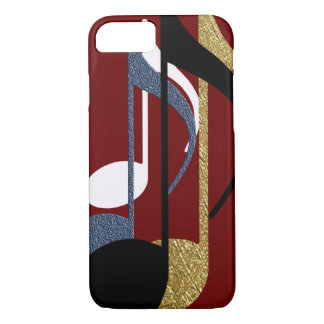 music notes graphic-design iPhone 7 case