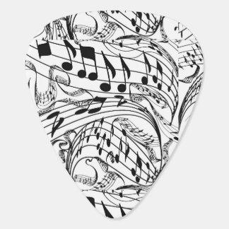 MUSIC NOTES-GUITAR PICK