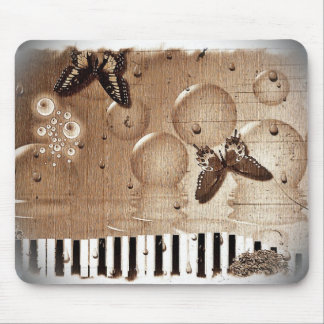 Music Notes Happy & Colorful Butterfly Nature Mouse Pad
