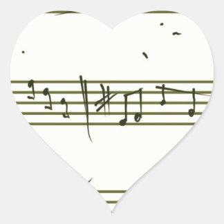 Music notes heart sticker
