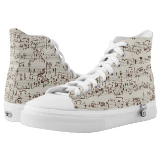 Music notes High-Top sneakers