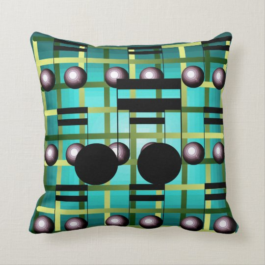 Music Notes Home Decor Fashion Musical Notes Throw Pillow