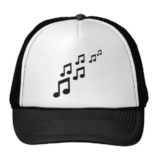 music notes icon trucker hat