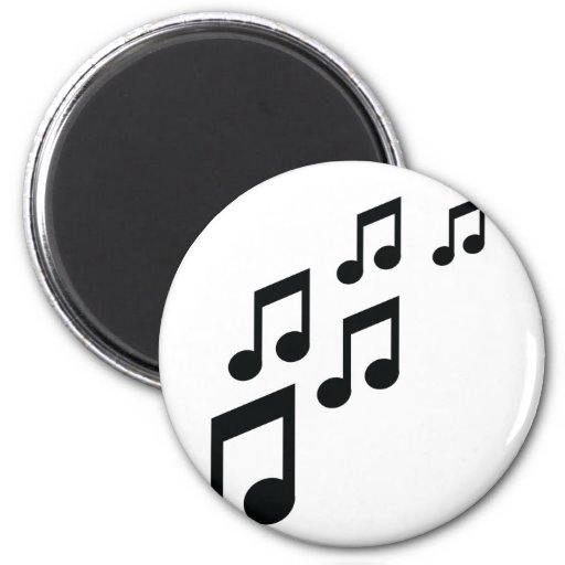 music notes icon refrigerator magnet