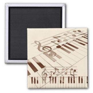 Music notes illustration magnet