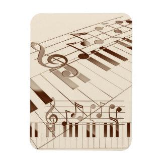 Music notes illustration rectangular magnet