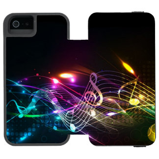 Music Notes in Color for Music-lovers Designer iPhone SE/5/5s Wallet Case