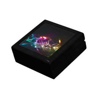 Music Notes in Color for Music-lovers Keepsake Box