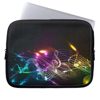 Music Notes in Color for Music-lovers Laptop Sleeve
