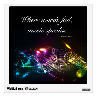 Music Notes in Color Wall Sticker