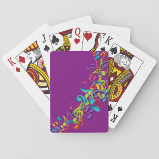 Music Notes In Purple Playing Cards