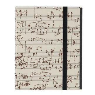 Music notes iPad case