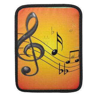 Music Notes iPad Rickshaw Sleeve Sleeves For iPads
