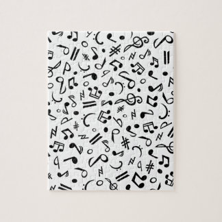 music notes jigsaw puzzle