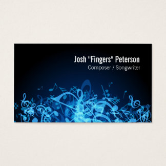 Music Notes Jumble Blue Business Card
