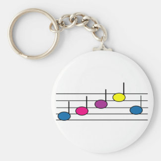 Music Notes Key Chain
