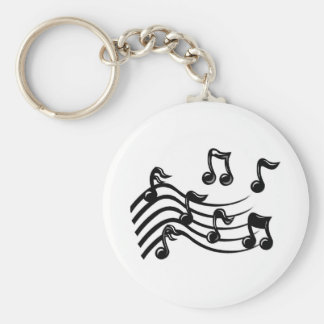 music notes key chains