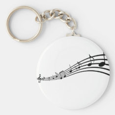 Music Notes Keychain at Zazzle
