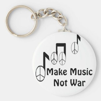 music notes keychain