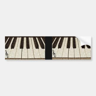 Music notes & Keys_ Bumper Sticker