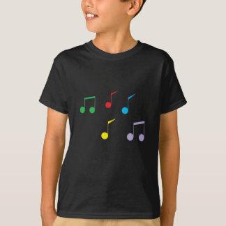 Music Notes Kids Dark T-Shirt