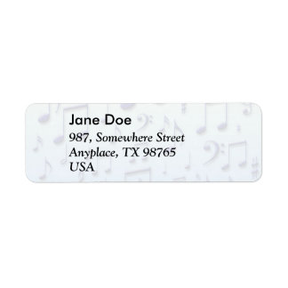 Music notes label