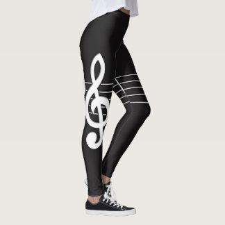 Music Notes Leggings