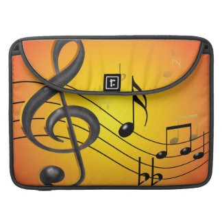 Music Notes Macbook Pro Rickshaw Flap Sleeve Sleeves For MacBook Pro