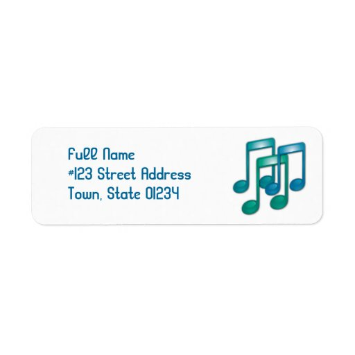 Music Notes Mailing Labels