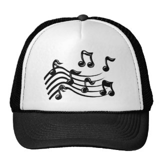 music notes mesh hats