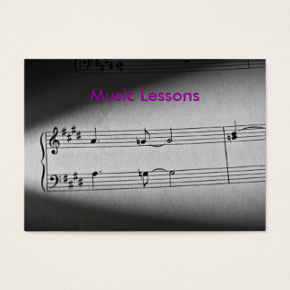 Music Notes, Music Lessons Business Card