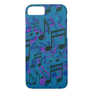 Music Notes Musical Pattern Blue Green Purple iPhone 8/7 Case