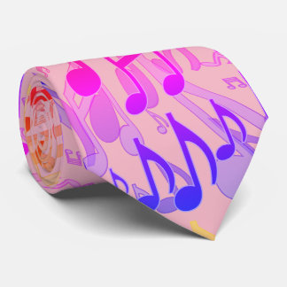 Music Notes Musical Pattern Fun Bright Colors Neck Tie
