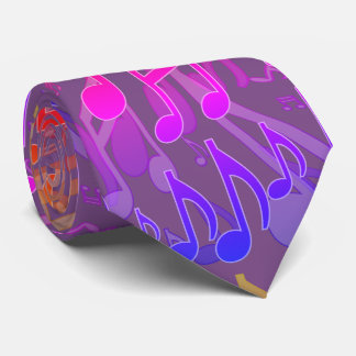Music Notes Musical Pattern Fun Cheerful Colors Neck Tie