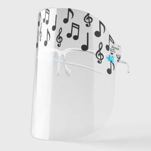 Music Notes Musician Teacher Face Shield