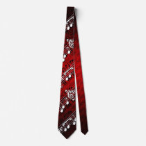 Music Notes Neck Tie