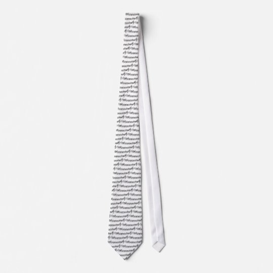 music notes neck tie
