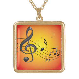 Music Notes Necklace
