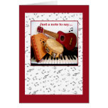 MUSIC NOTES Note card