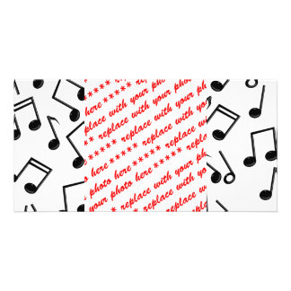 Music Notes on Blank (Add Background Color) Card
