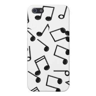 Music Notes on Blank (Add Background Color) Case For iPhone SE/5/5s