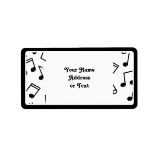 Music Notes on Blank (Add Background Color) Label
