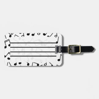 Music Notes on Blank (Add Background Color) Luggage Tag