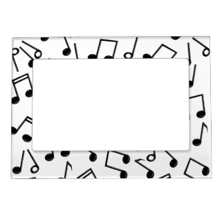 music notes on blank add background color magnetic frame - Music Note Picture Frame
