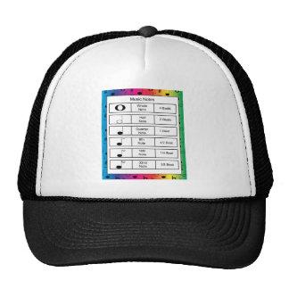 Music Notes on Rainbow Background Trucker Hat