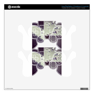 Music Notes Origami Crane Mobile Decal For PS3 Controller