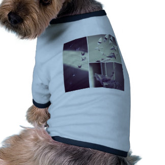 Music Notes Origami Crane Mobile Dog T Shirt